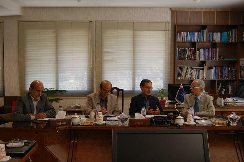 Meeting between the Head of ECO Science Foundation (ECOSF) and the President of Ferdowsi University ...